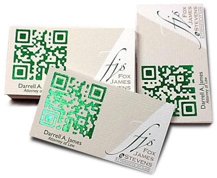 Business card design tips add foil to a qr code business cards business card design tips add foil to a qr code reheart Gallery