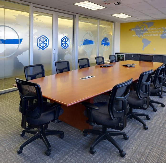 Genius Wall Conference Room With Impress Ultra Task Chairs Around A - Conference room table power strip