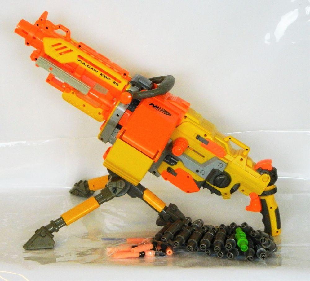 Nerf N-Strike Vulcan Machine Dart Gun Blaster Ammo Belt Complete Works Gun  War Toy