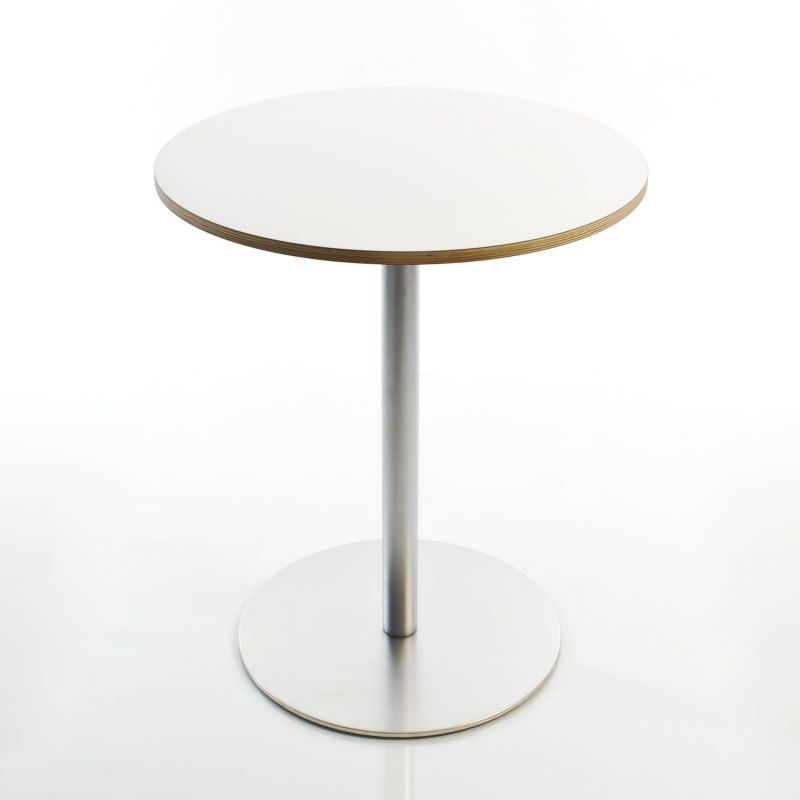 la palma - Brio Fix 72 Bistrotisch Ø60cm - weiß/Laminat | Café Uni ...