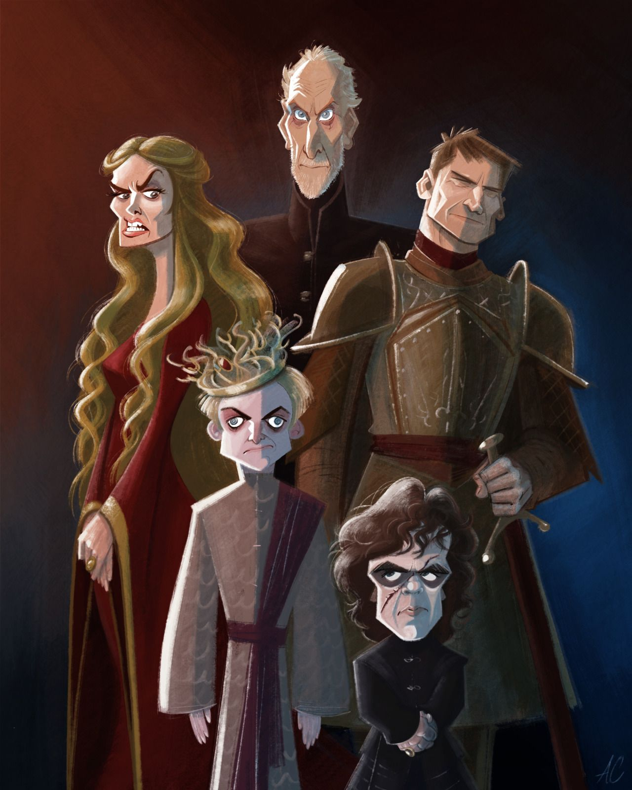 Artofandrewchesworth Family Portrait Of The Loving Loathing Lannisters The Lannisters C Game Of Thrones Fans Game Of Thrones Art Game Of Thrones Poster