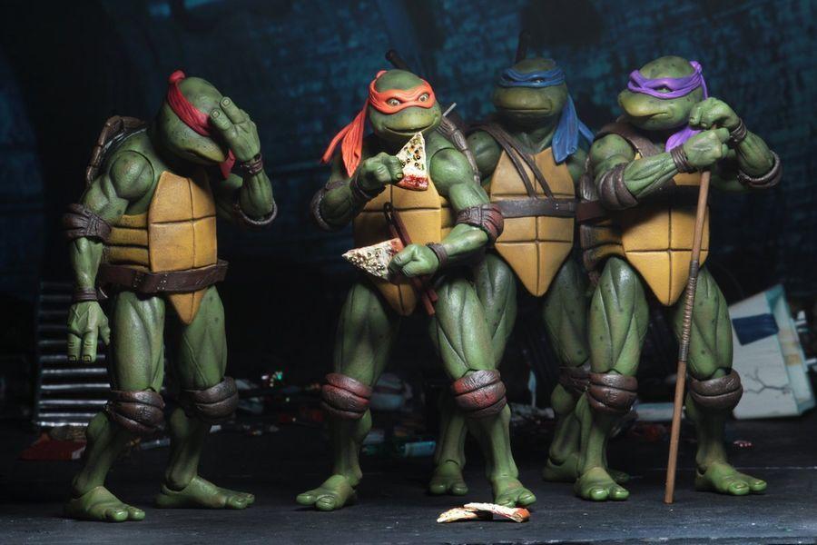 """NECA SDCC 2018 TMNT Teenage Mutant Ninja Turtles 1990 Movie 7/"""" Action Figure"""