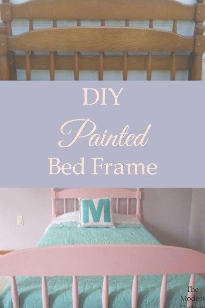 Diy Painted Bed Frame Diy Bed Frame Painted Bed Frames Bed