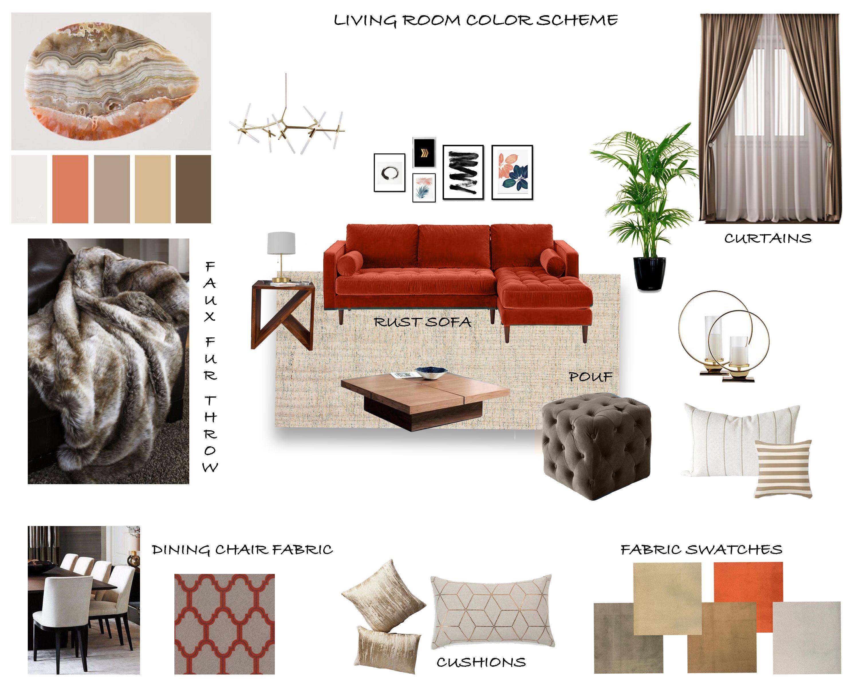 Interior Moodboard Home Decor Beige Color Scheme Interior
