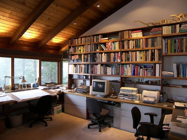 Contemporary Home Office By Diederich Kim Architects Attic Renovation Attic Remodel Attic Rooms
