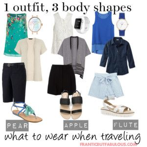 1 outfit, 3 body shapes: summer travel outfit ideas