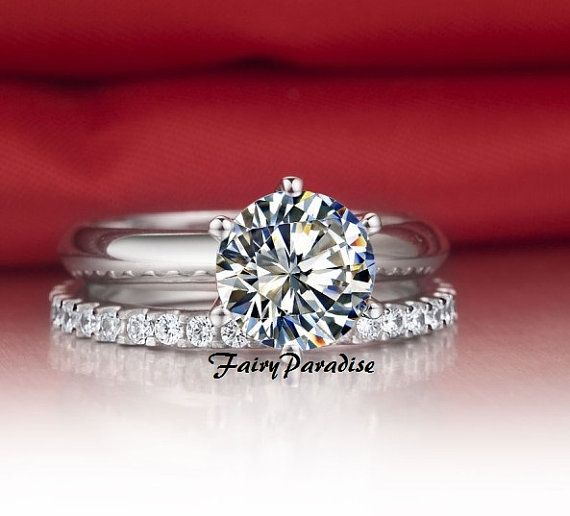 3 Carat Bridal Sets Solitaire Engagement Ring Wedding Ring Set