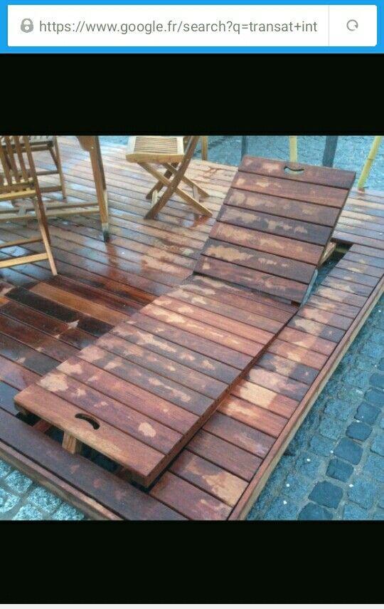 Transat intégré dans un terrasse en bois été indien Pinterest