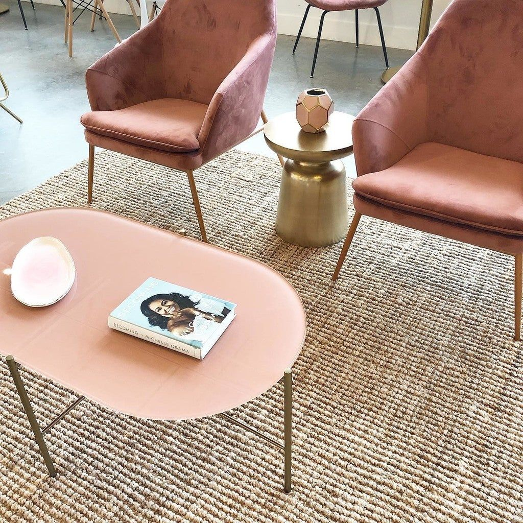 Silicus Pink Oblong Coffee Table Coffee Table Glass Coffee Table Oval Glass Coffee Table [ 1024 x 1024 Pixel ]
