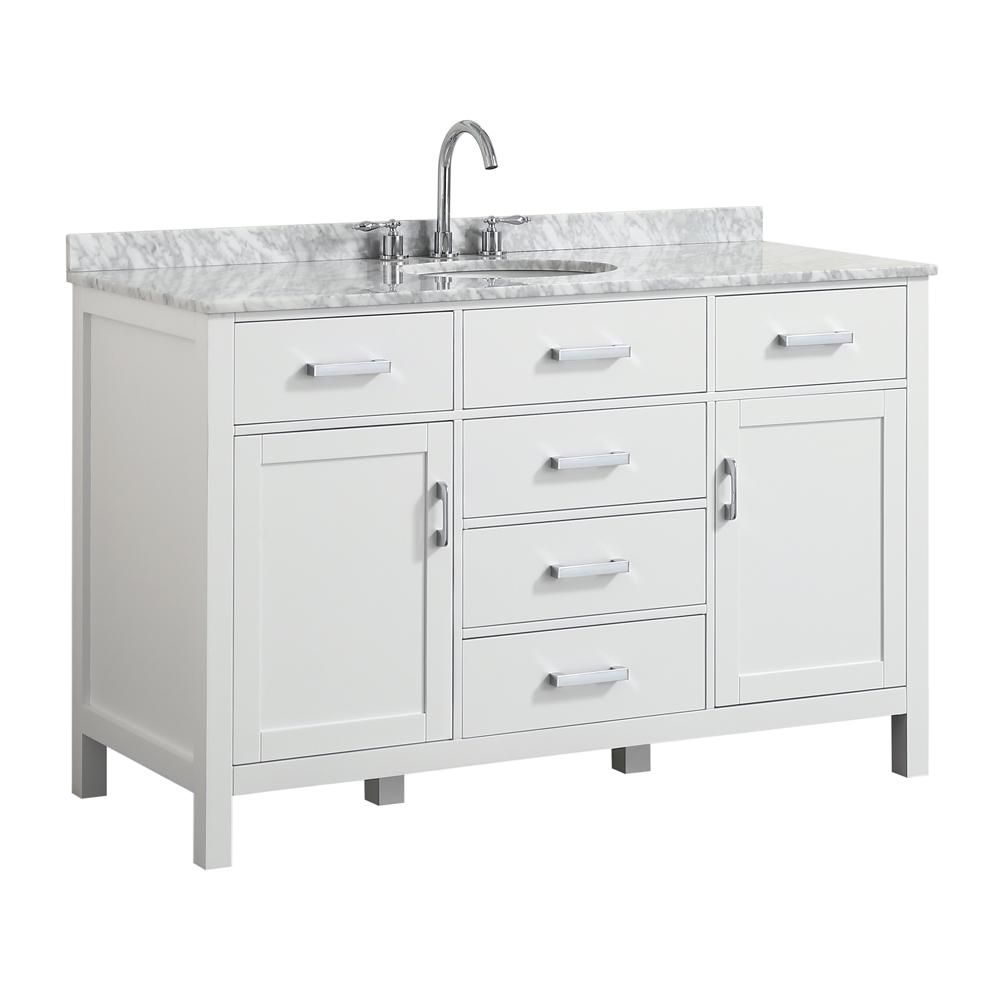 Belmont Decor Hampton 55 In W X 22 In D Bath Vanity In White