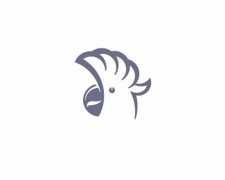 White Parrot Logo Design Parrot Logo Cool Logo Logo Design