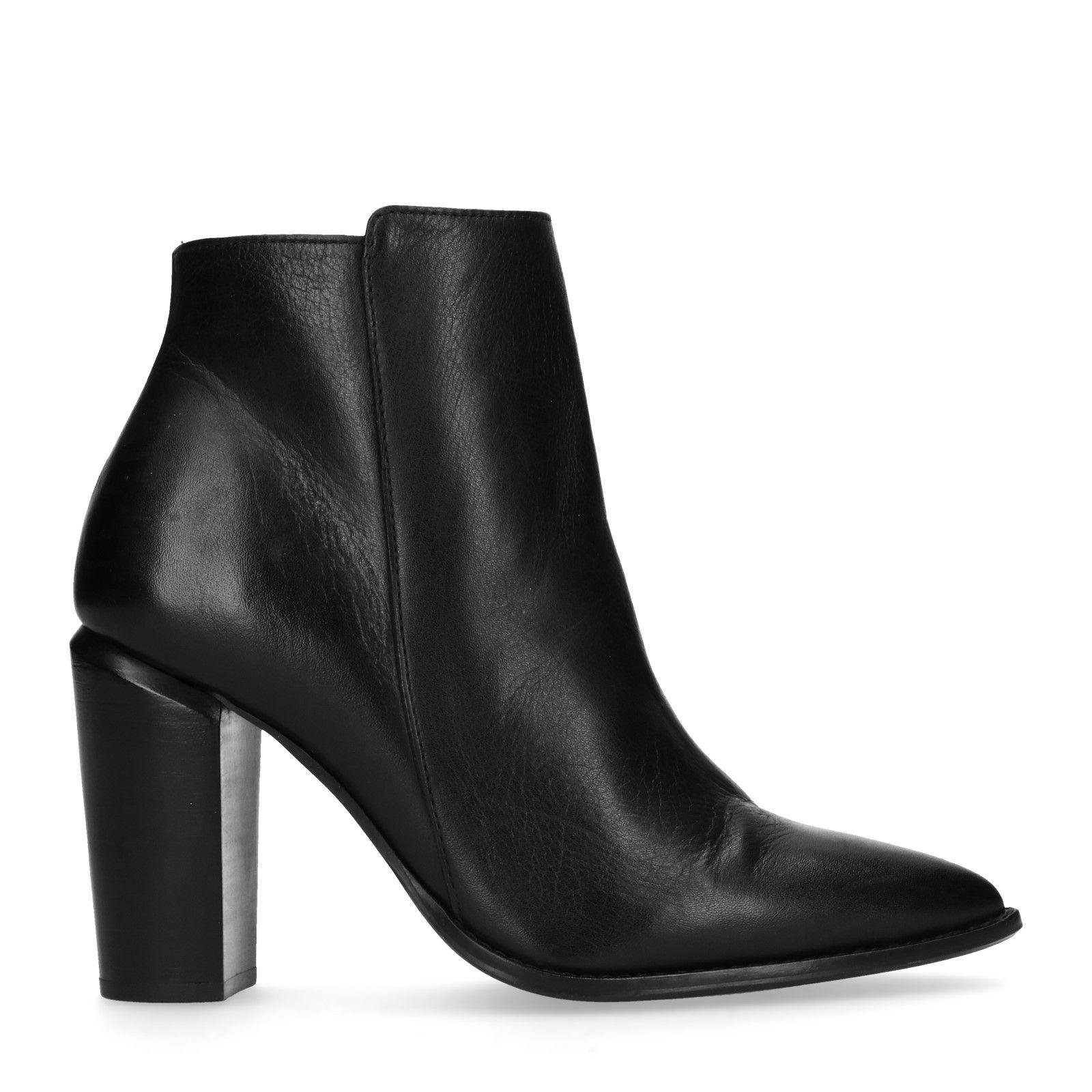 Bottines en cuir avec talon - noir - femmes – SACHA   Les fringues ... 78a7348261d7