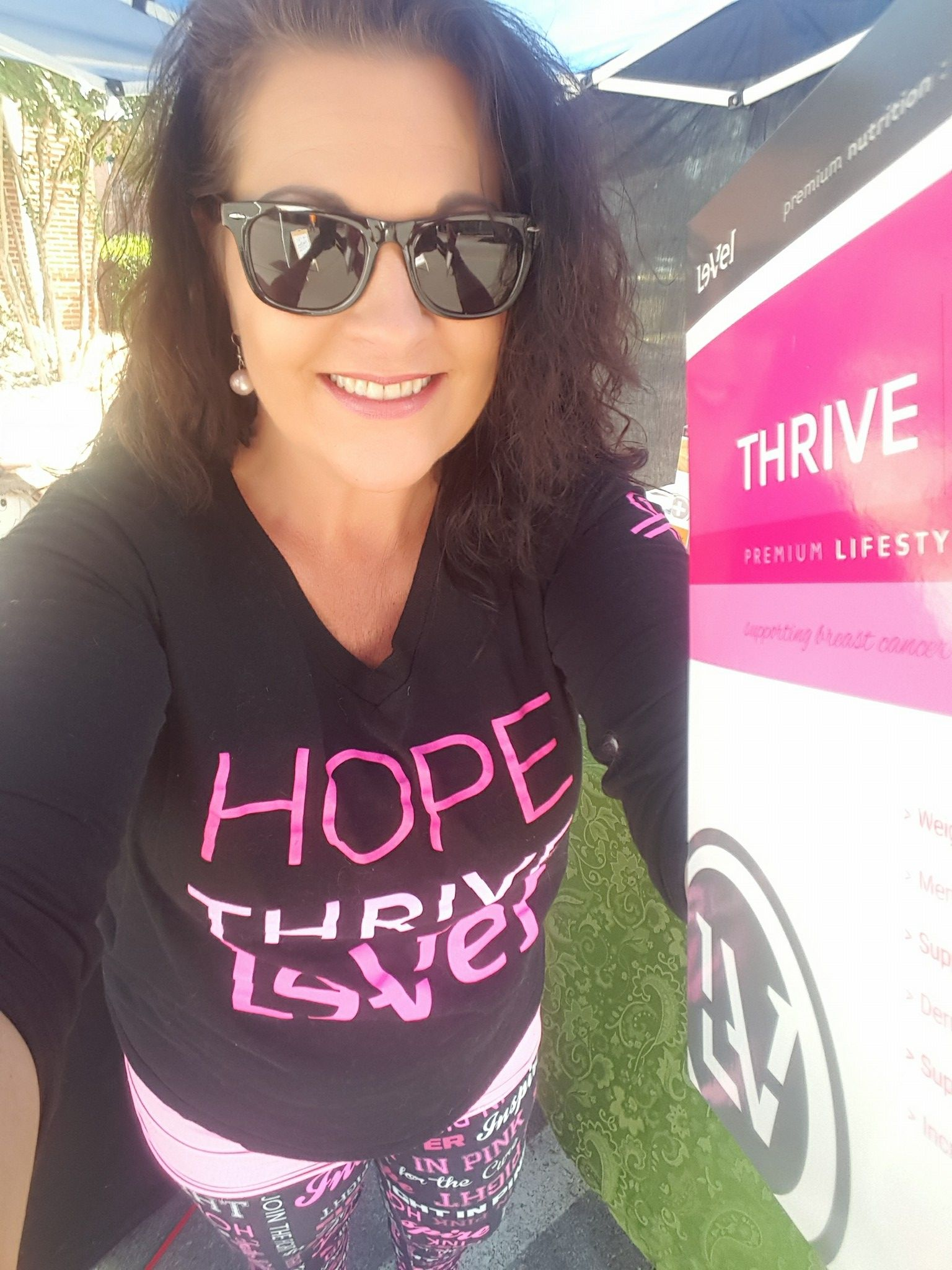 Love my Breast Cancer Awareness attire!  I love sharing Thrive with everyone and love even more that LeVel gives back to these amazing causes! #Thrive4Pink #NBCF #DFT
