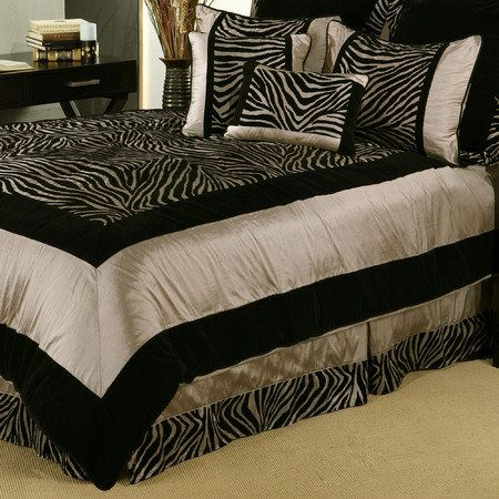 Zuma Zebra 7 Pc Comforter Bed Set Comforter Sets Zebra Print