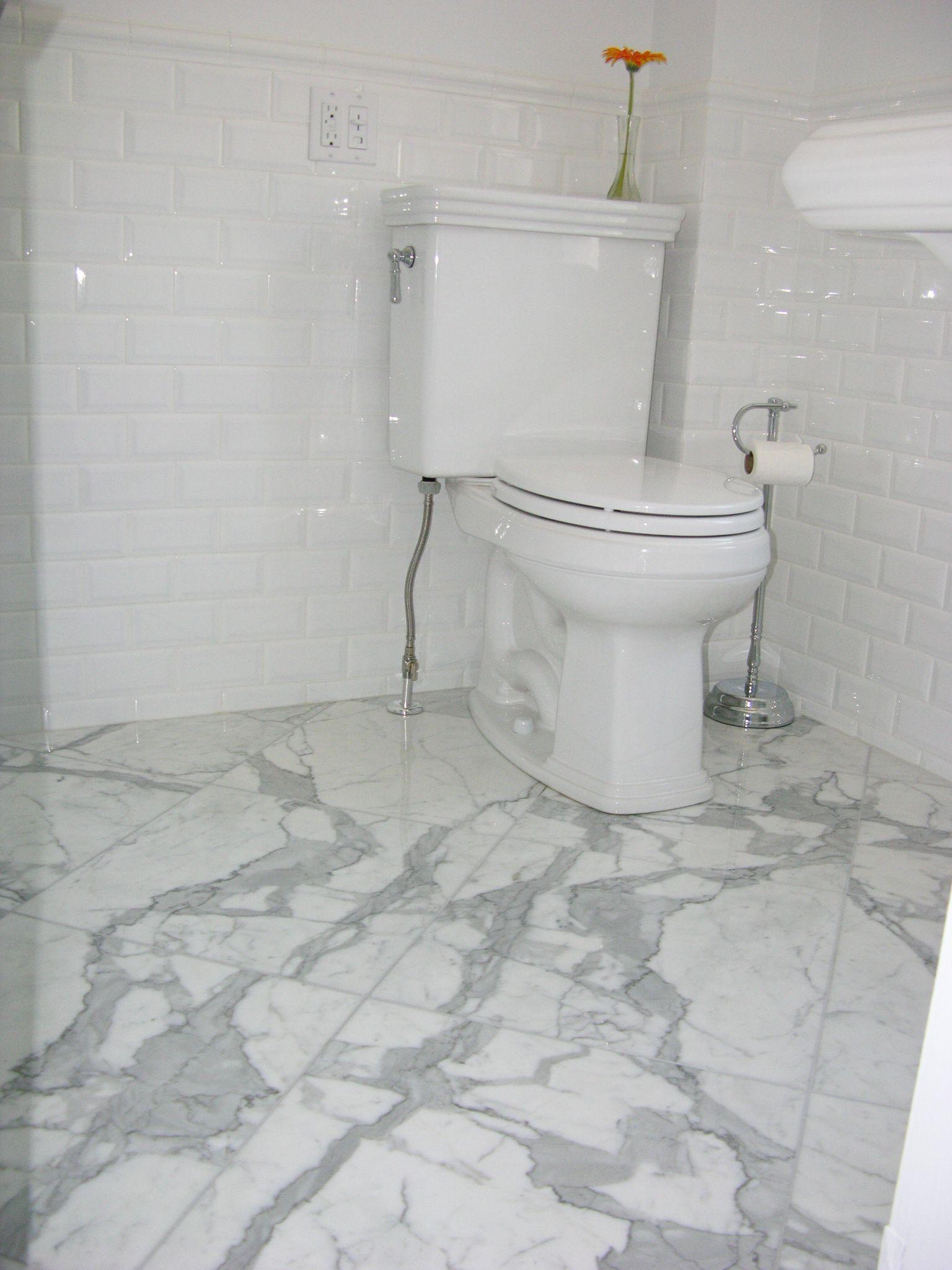 Statuario Marble Floor Tile