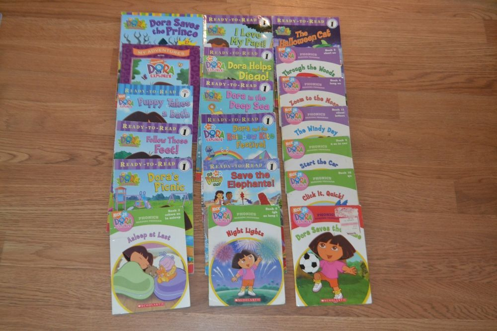 Dora the Explorer HUGE lot of 19 Children Books, Early Reader, Picture Book