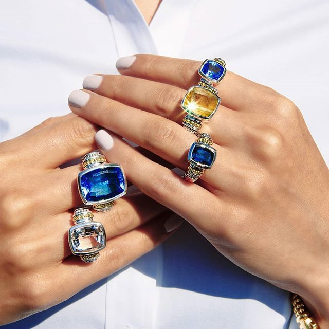 So many statement rings! Which color is your favorite? # ...