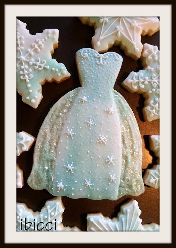 Frozen Inspired Dress Cookie Connection Cake And Cookie
