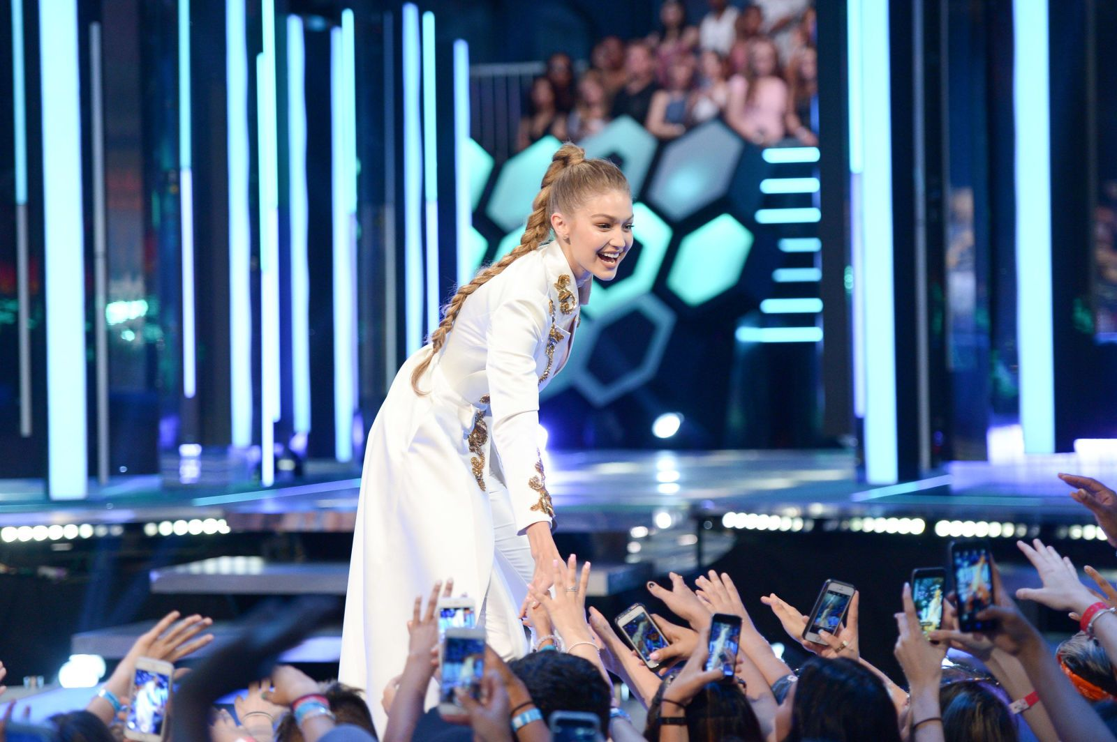 Gigi Hadid Wore 6 Outfits to the MuchMusic Video Awards  - ELLE.com
