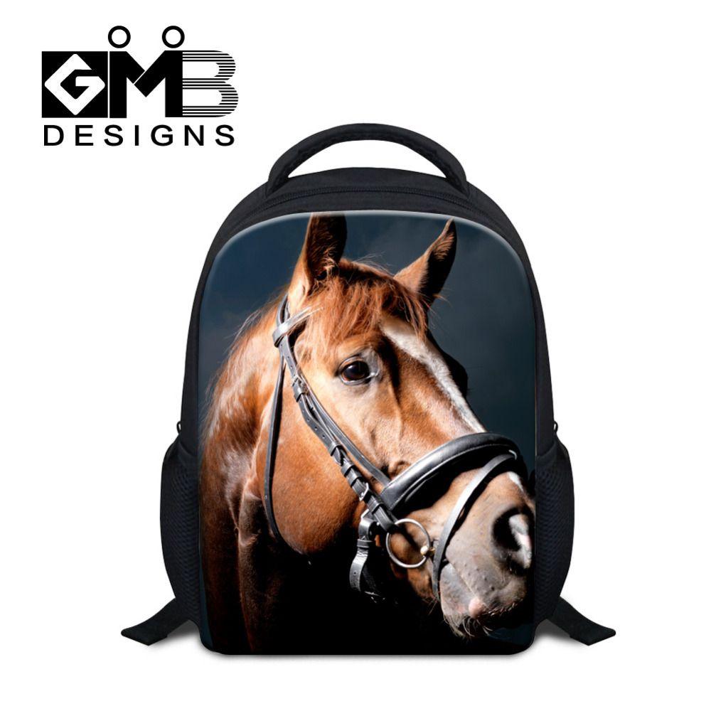 9d10ab0a4d46 Bag · Didpalang Animal Mini School Bag For Boys Little Children Backpacks  Kids SchoolBag Horse Print Book Bag
