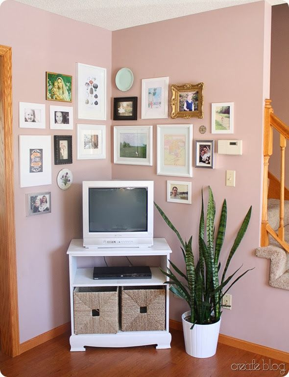 Corner Gallery Wall With Tv Google Search Wall Ideas Corner