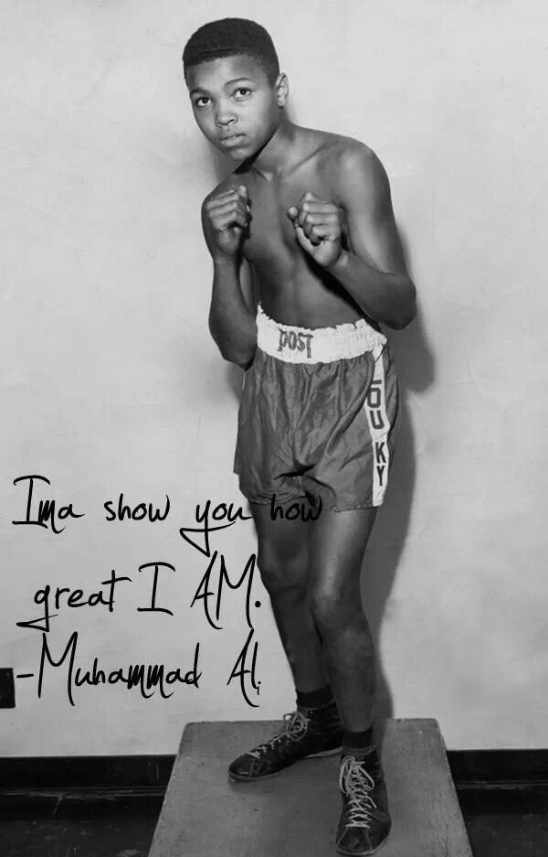 Muhammad Ali as a child
