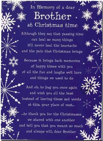 In Memory of a Dear Brother at Christmas Time | sweet child