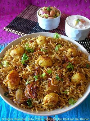 Baby Potato Biriyani..ideal recipe for Parties!!