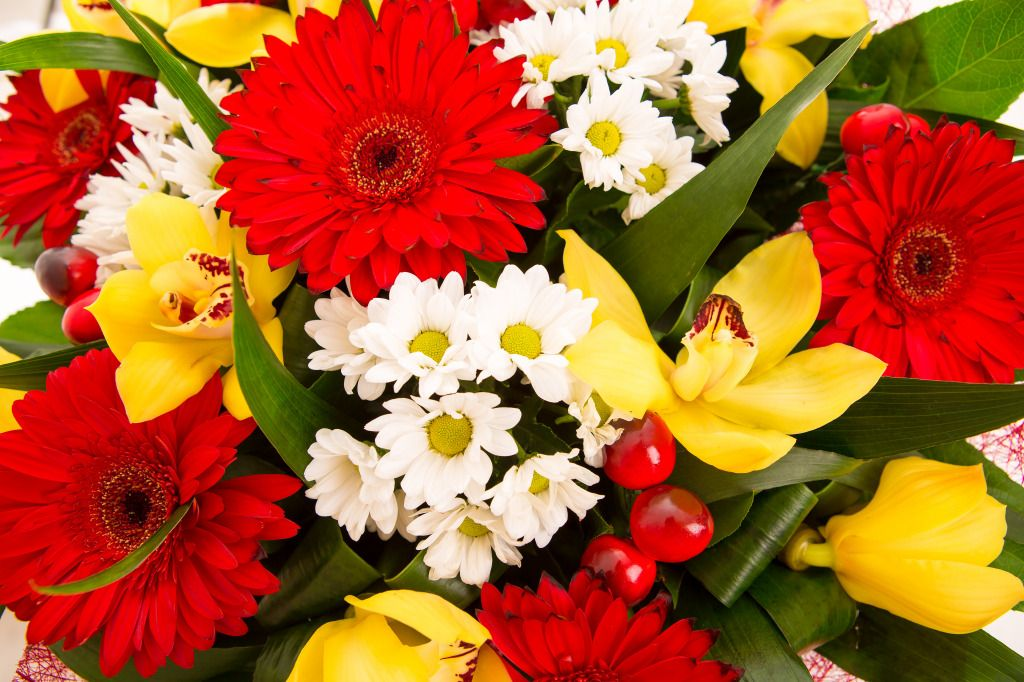 Bouquet of Flowers jigsaw puzzle in Flowers puzzles on