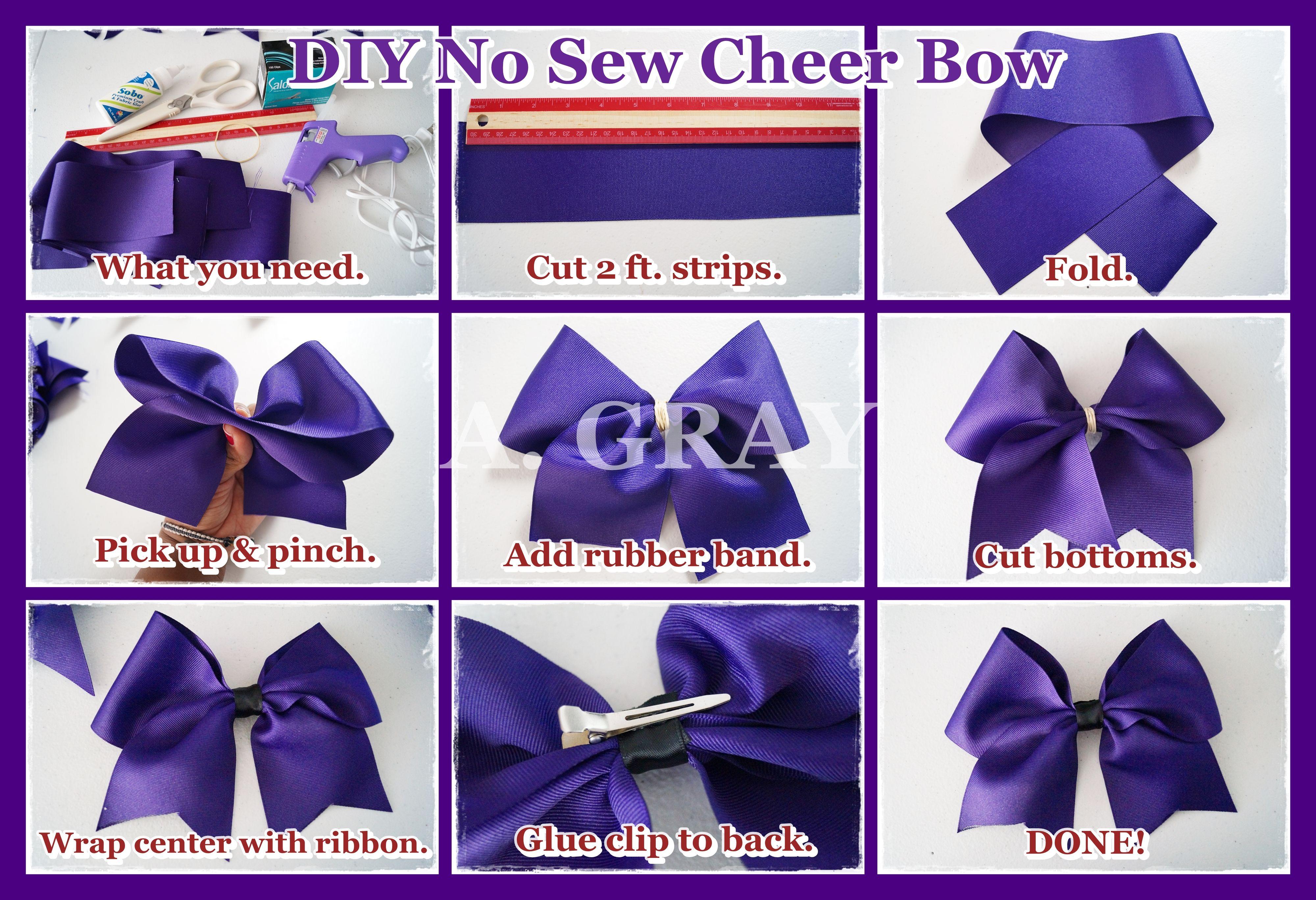 How To Make A Hair Bow I No Sew Hair Bow I Diy Easy Bow Christmas Hair Bows Diy Easy Hair Bows Diy Hair Accessories