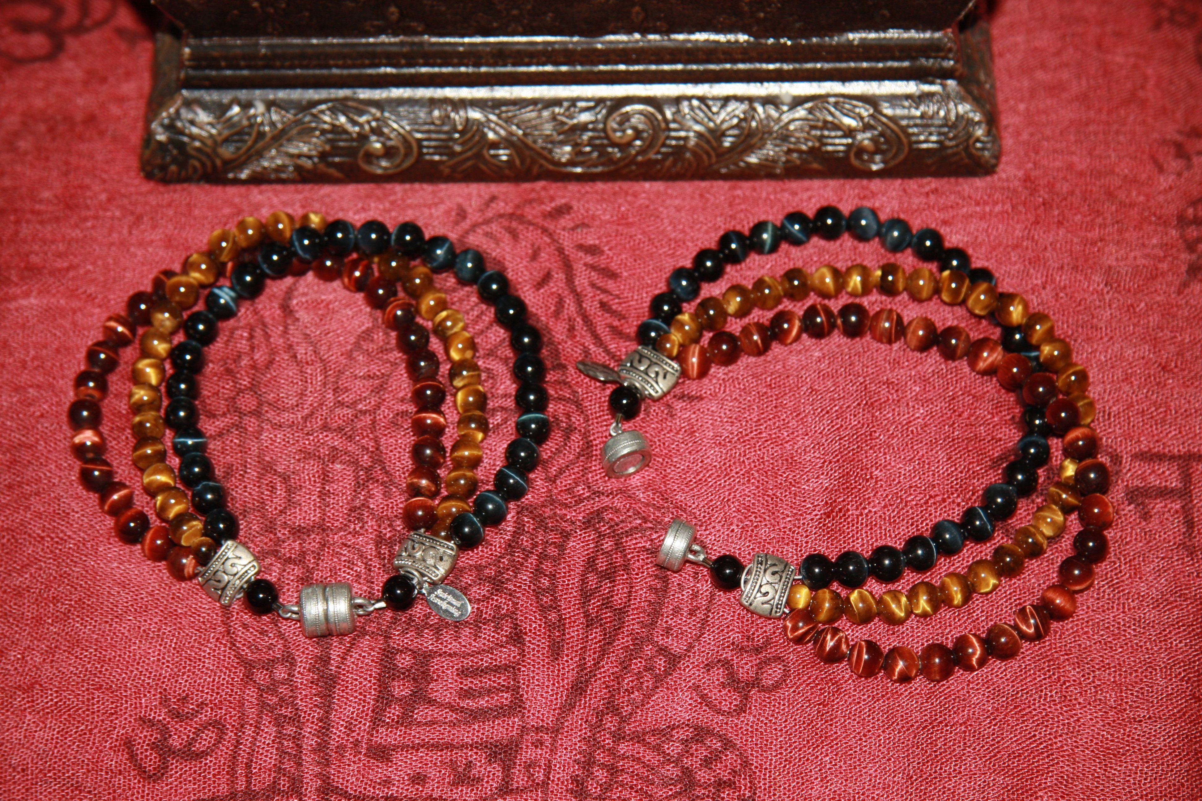 Great Guy's Bracelet - Tiger Eye Trio - from Shansen Jewelry
