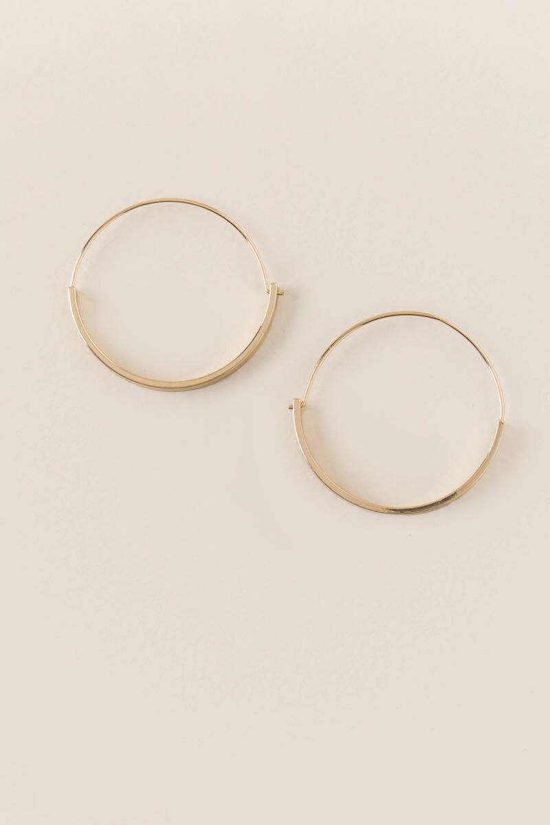 0261d87202aee Mira Paddle Bottom Hoop Earring | francesca's | Summer Jewels | Hoop ...