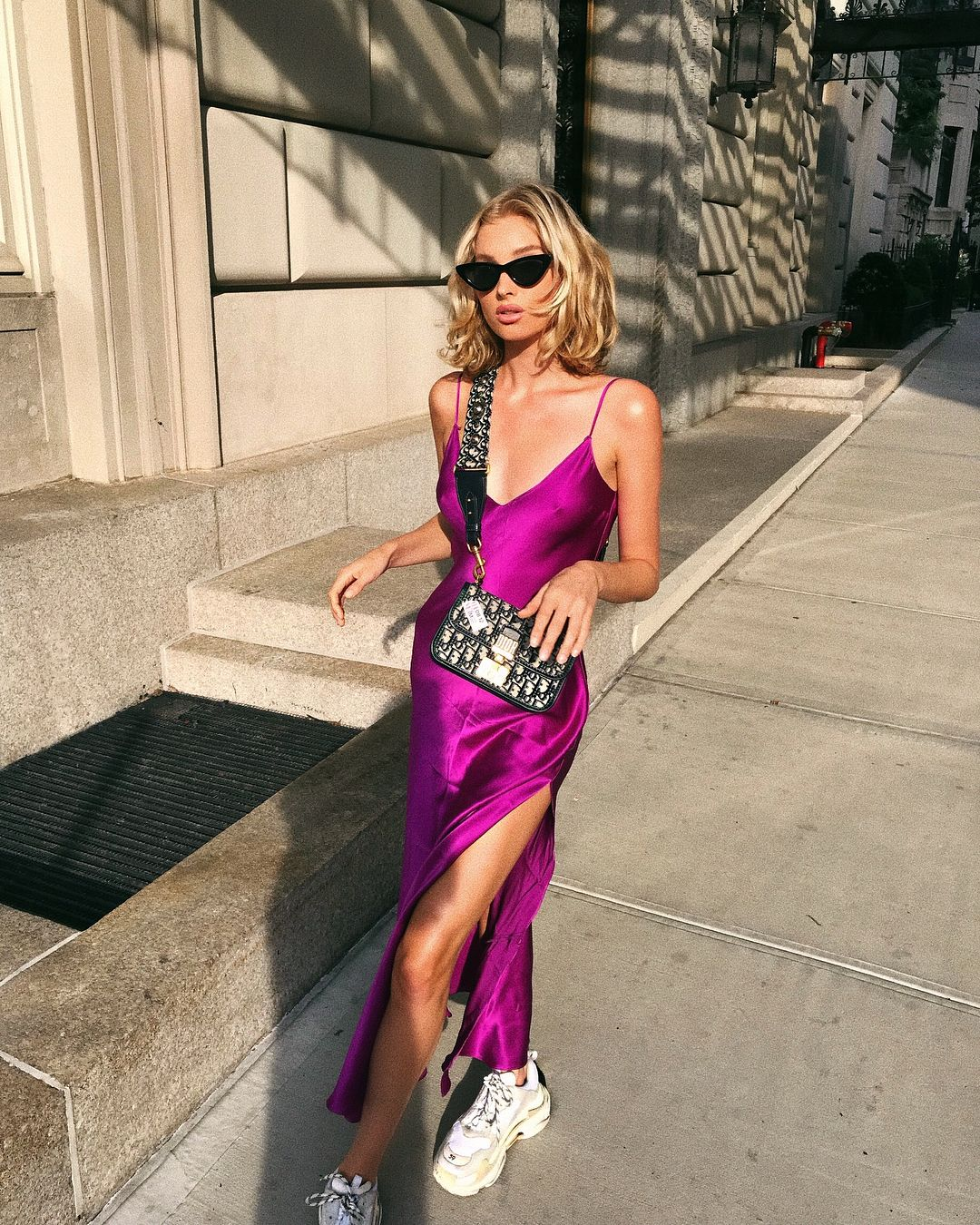 Style guide: daytime slip dress by Elsa Hosk