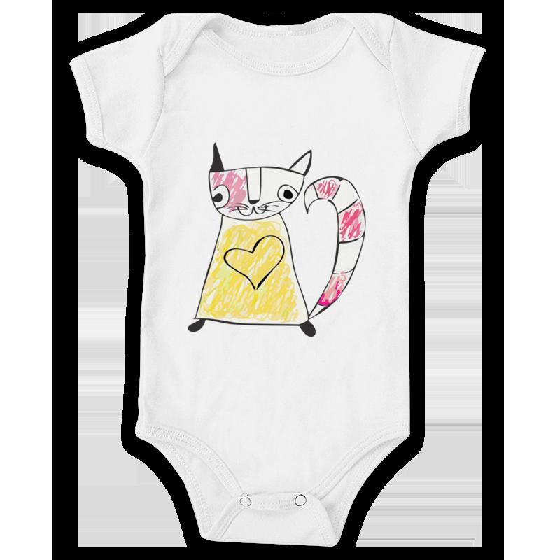 Body de bebê 100% algodão, super macio, confortável e impresso com a alta tecnologia DTG de impressão direta sobre tecido com toque zero.