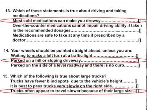 2016 Dmv Test Permit Actual Test And Answers Part 4 Dmv Test