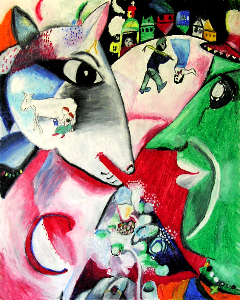 Marc Chagall - I and the Village | Beautiful art ...