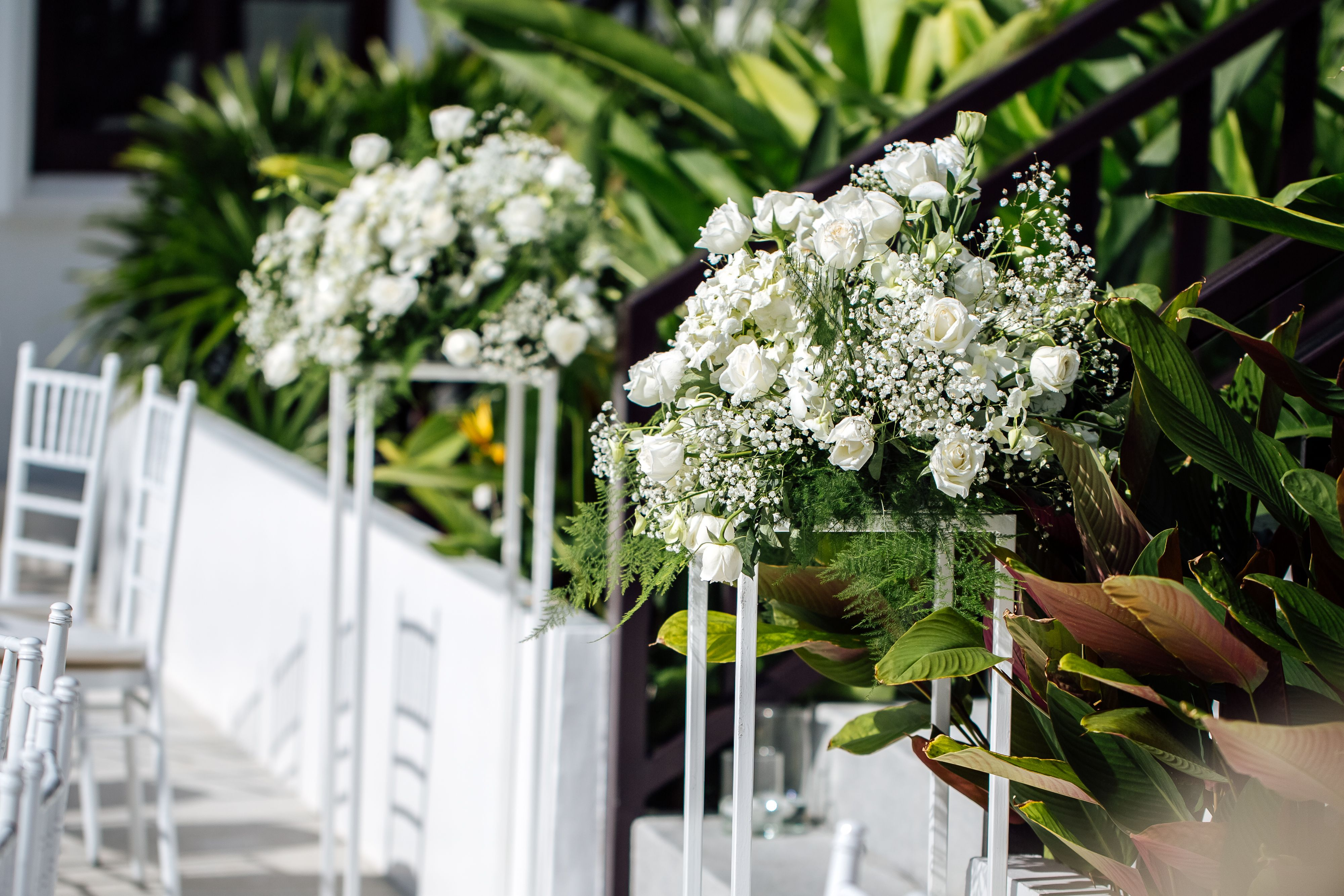 Modern White Flower Stands To Add Height And Style