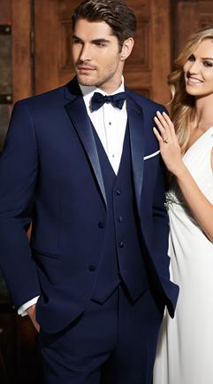 Cobalt Blue Brunswick Blue tuxedo wedding, Wedding tux