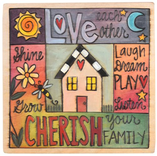 """10"""" x 10"""" plaque from Sticks"""