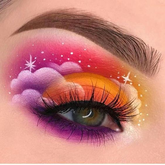 Photo of Cloud eye makeup : la tendance Instagram 2018 #makeup #makeup #Cloud