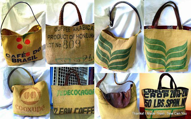 I Made Them Coffee Bean Sacks Repurposed Into Handbags