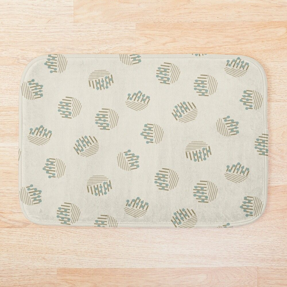 Sketched Abstract Circles with Dots on Cream | Redbubble | This neutral colored abstract circular sketched and dotted print is totally chic and stylish! #sketchedprint #neutralprint #abstractprint #abstractdesign #bathmat #neutralbathmat #findyourthing