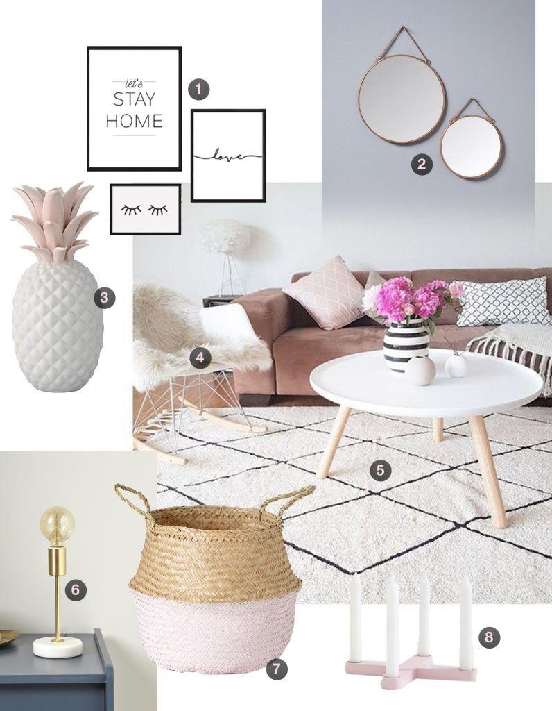 Inspiration Déco scandinave rose poudré & cuivré  Morgane Pastel