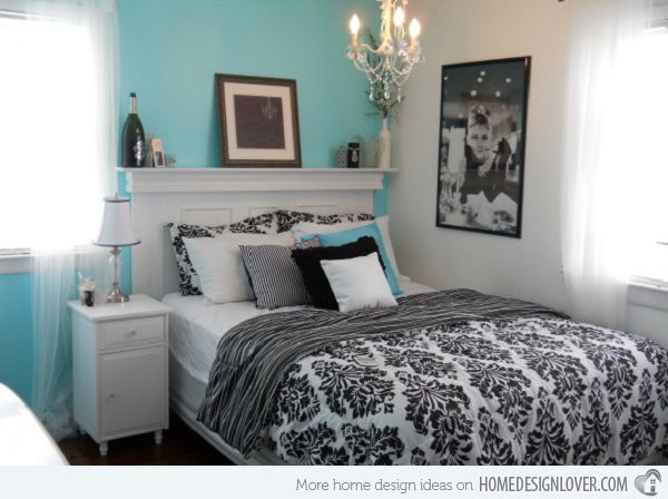 Amazing Pretty Combo Of Turquoise And Black In 15 Bedroom Interiors | Home Design  Lover