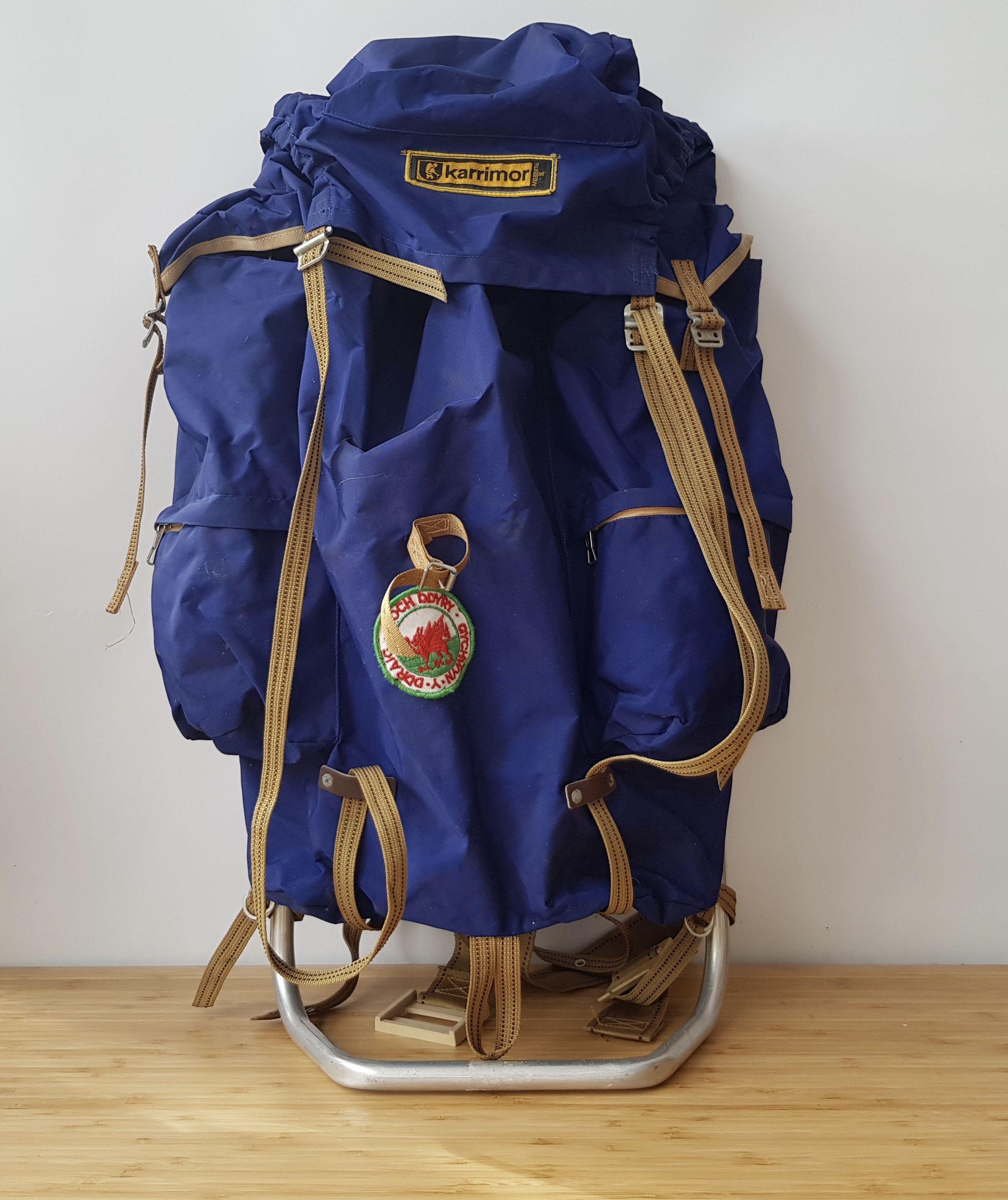 7e27d7178ea9 Vintage Blue Karrimor Rucksack Old Rucksack Old Hiking Bag Old Hiking  Rucksack Old Camping Accessories by Route46Vintage on Etsy