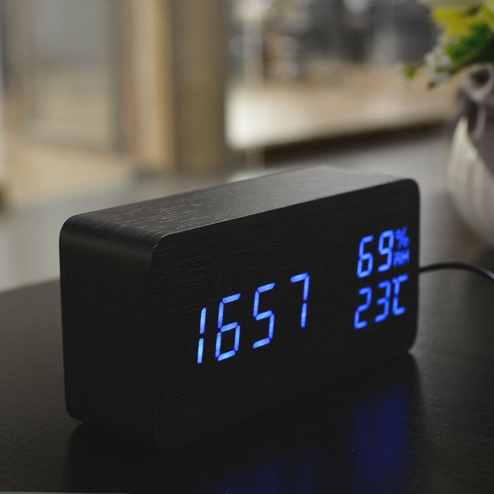 Aliexpress Com Buy Fibisonic Wood Wooden Led Alarm Clock