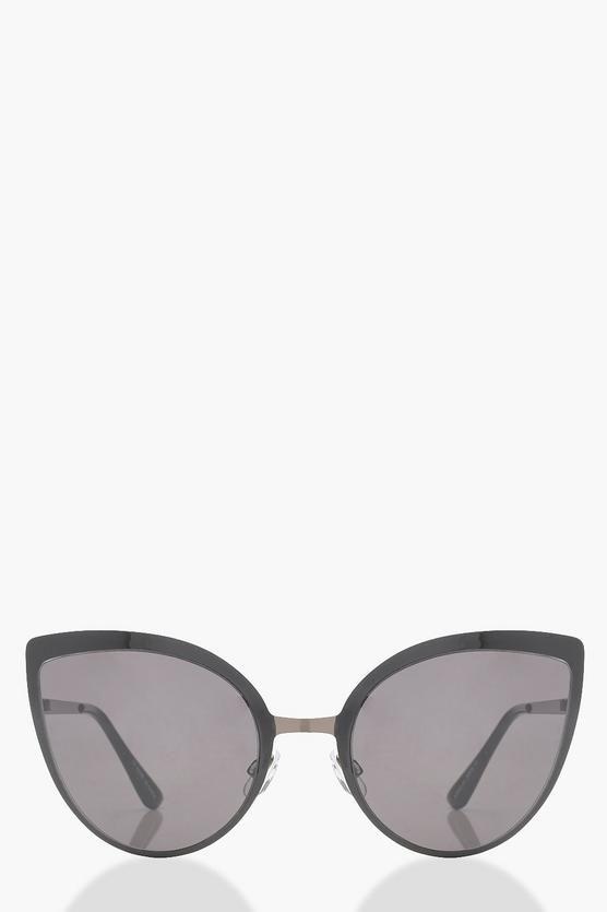 Ellie Oversized Smoke Cat Eye Sunglasses ZkpeUEwyJ