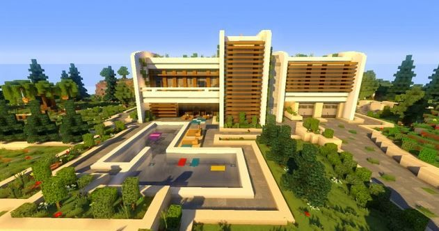 Ecological and Modern House Map 2 For minecraft Pinterest
