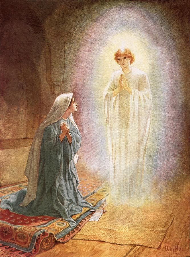 annunciation annunciation painting by william brassey hole