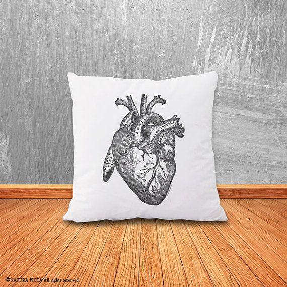 Heart pillow cover human heart pillow